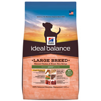 Hill's Ideal Balance Large Breed Natural Chicken & Brown Rice Recipe Adult Canine Dry