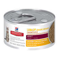 Hill's Science Diet Adult Hairball Control Savory Chicken Entree Feline Cans