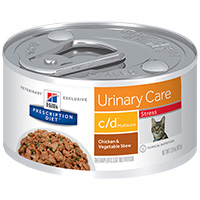 Hill's Prescription Diet c/d Multicare Feline Stress Urinary Care with Chicken & Vegetable Stew Cans