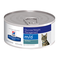 Hill's Prescription Diet m/d Weight Loss-Low Carbohydrate-Glucose Management Feline Cans