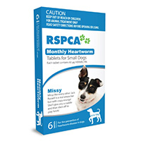 RSPCA Monthly Heartworm Tablets for Dogs