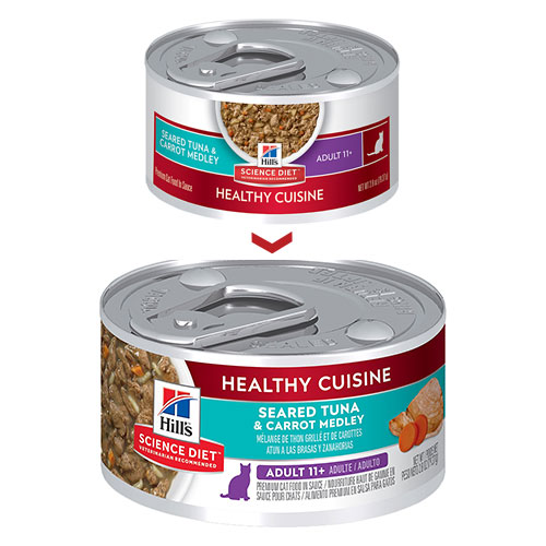 Hill's Science Diet Adult 11+ Healthy Cuisine Seared Tuna & Carrot Medley Canned Cat Food for Food