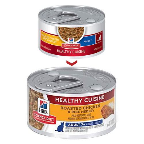 Hill's Science Diet Adult 7+ Healthy Cuisine Chicken & Rice Medley Canned Cat Food for Food