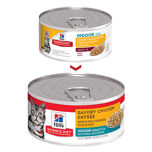 Hill's Science Diet Adult Indoor Savory Chicken Entrée Canned Wet Cat Food for Food
