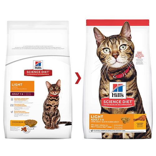 Hill's Science Diet Adult Light Chicken Dry Cat Food for Food