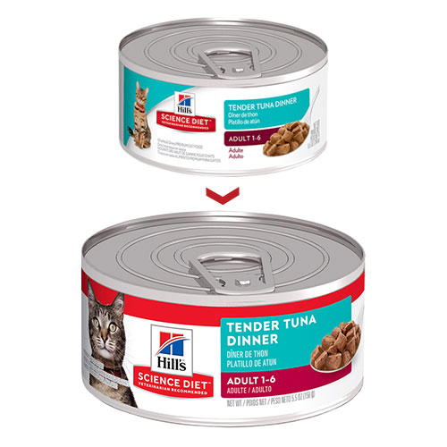 Hill's Science Diet Adult Tender Tuna Dinner Canned Wet Cat Food for Food