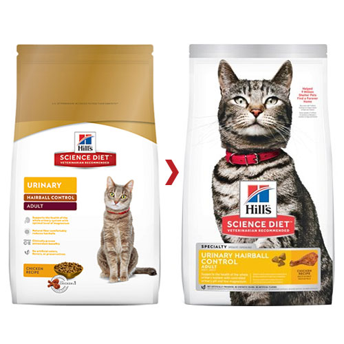 Hill's Science Diet Adult Urinary Hairball Control Dry Cat Food for Food