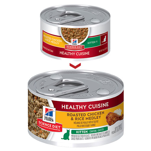Hill's Science Diet Kitten Healthy Cuisine Chicken & Rice Medley Canned Cat Food for Food