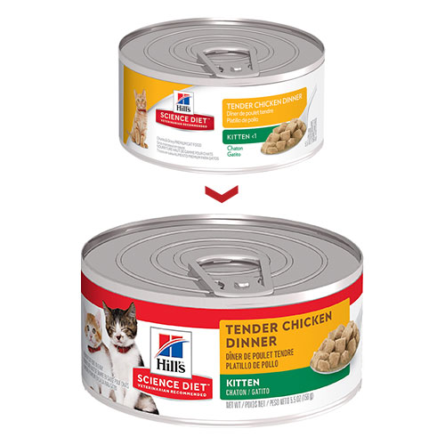 Hill's Science Diet Kitten Tender Chicken Dinner Canned Wet Cat Food  for Food
