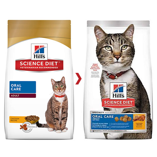 Hill's Science Diet Adult Oral Care Feline Dry for Food