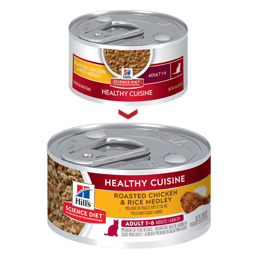 Hill's Science Diet Adult Healthy Cuisine Roasted Chicken & Rice Medley Canned Cat Food for Food