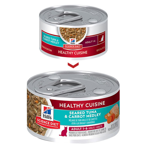 Hill's Science Diet Adult Healthy Cuisine Seared Tuna & Carrot Medley Canned Cat Food for Food
