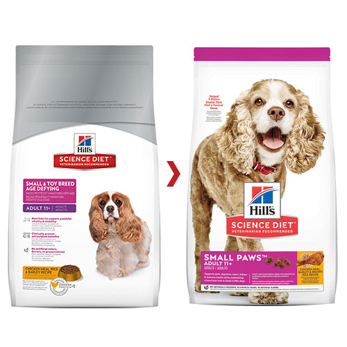 Hill's Science Diet Adult 11+ Small Paws Chicken, Barley & Rice Dry Dog Food for Food