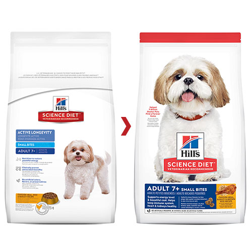 Hill's Science Diet Adult 7+ Small Bites Chicken, Barley & Rice Dry Dog Food for Food