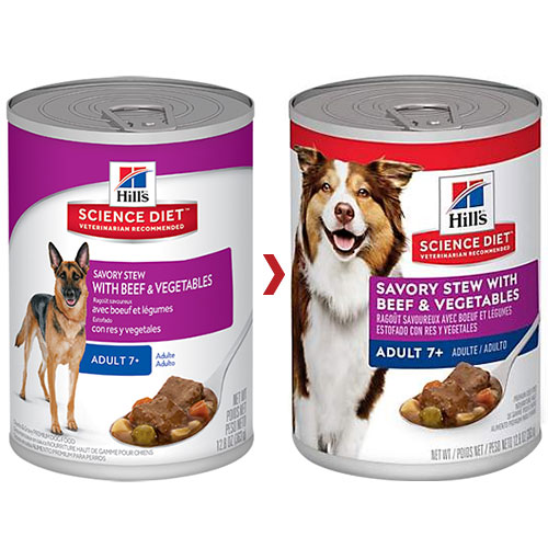 Hill's Science Diet Adult 7+ Savory Stew Beef & Vegetable Canned Dog Food for Food