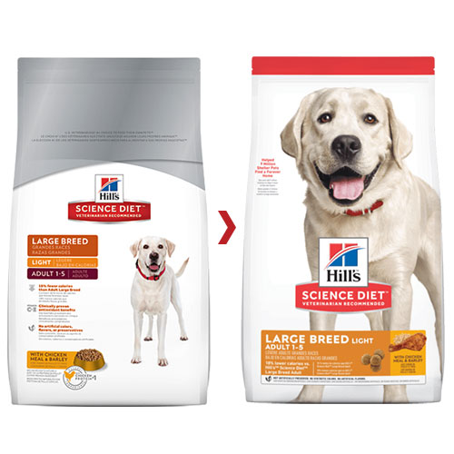 Hill's Science Diet Adult Light Large Breed with Chicken Meal & Barley Dry Dog Food for Food