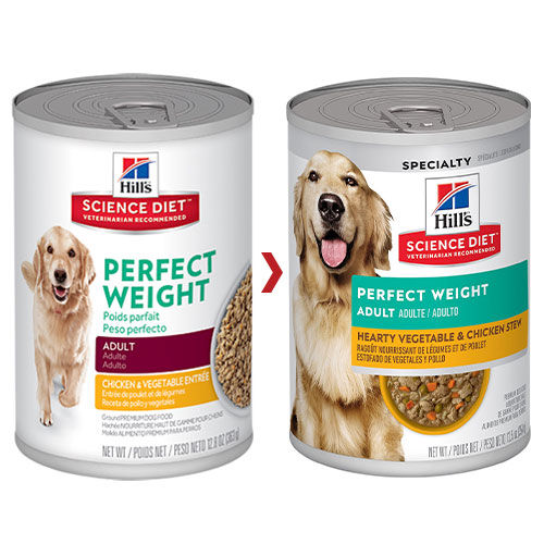 Hill's Science Diet Adult Perfect Weight Chicken & Vegetables Canned Dog Food for Food