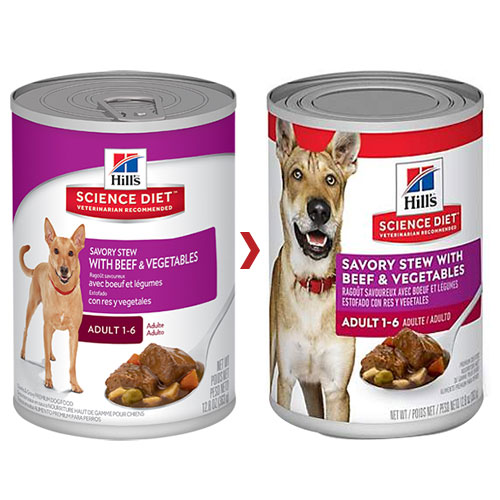 Hill's Science Diet Adult Savory Stew Beef & Vegetable Canned Dog Food for Food