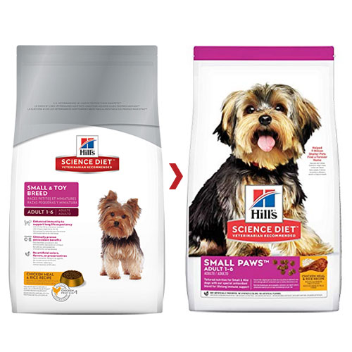 Hill's Science Diet Adult Small Paws Chicken Meal & Rice Dry Dog Food for Food