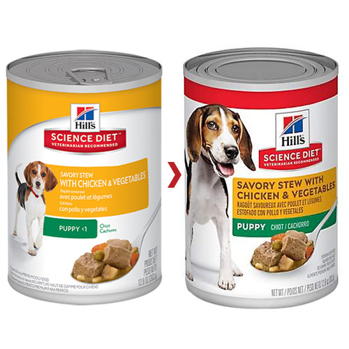 Hill's Science Diet Puppy Savory Stew Chicken & Vegetable Canned Dog Food for Food