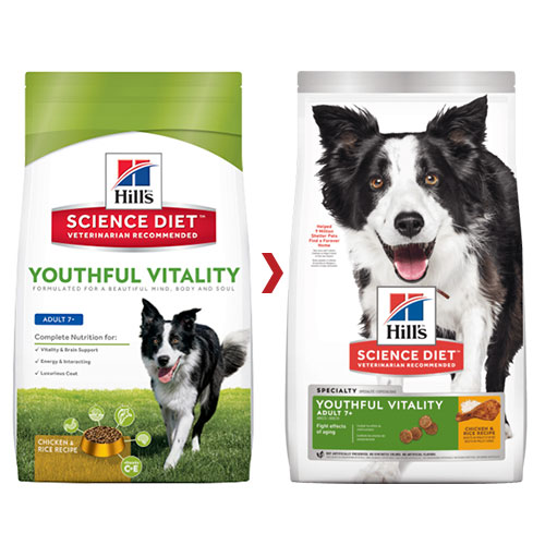 Hill's Science Diet Adult 7+ Youthful Vitality with Chicken & Rice Dry Dog Food for Food