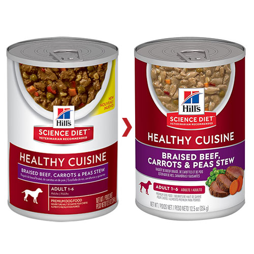 Hill's Science Diet Adult Healthy Cuisine Braised Beef, Carrots & Peas Stew Canned Dog Food for Food