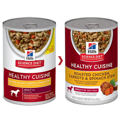 Hill's Science Diet Adult Healthy Cuisine Roasted Chicken, Carrots & Spinach Stew Canned Dog Food for Food