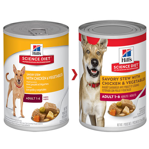 Hill's Science Diet Adult Savory Stew Chicken & Vegetable Canned Dog Food for Food