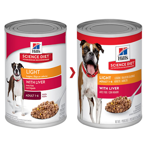 Hill's Science Diet Adult Light Liver Canned Dog Food for Food