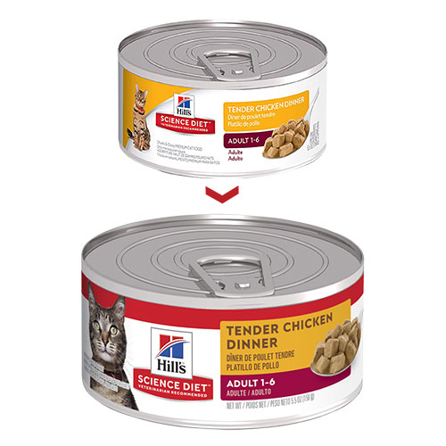 Hill's Science Diet Adult Tender Chicken Dinner Canned Wet Cat Food for Food
