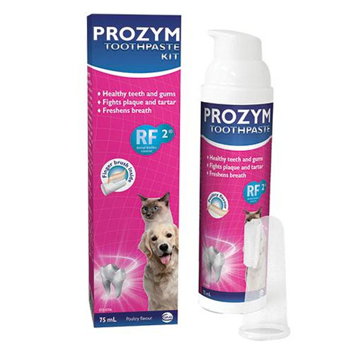 Prozym Dental Toothpaste Kit (Chicken Toothpaste + Fingerbrush) for Dogs