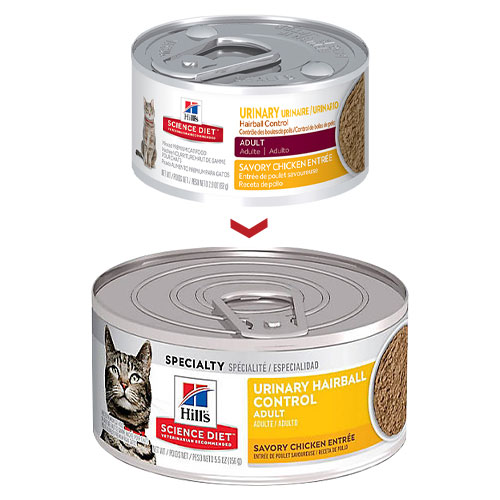 Hill's Science Diet Adult Urinary Hairball Control Canned Cat Food for Food