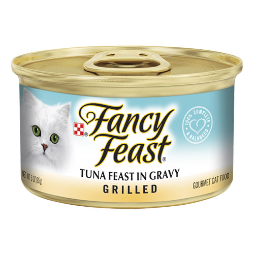 Fancy Feast Cat Adult Grilled Tuna Feast in Gravy for Food