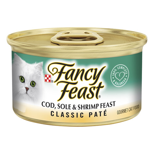 Fancy Feast Cat Adult Classic Cod Sole Shrimp for Food