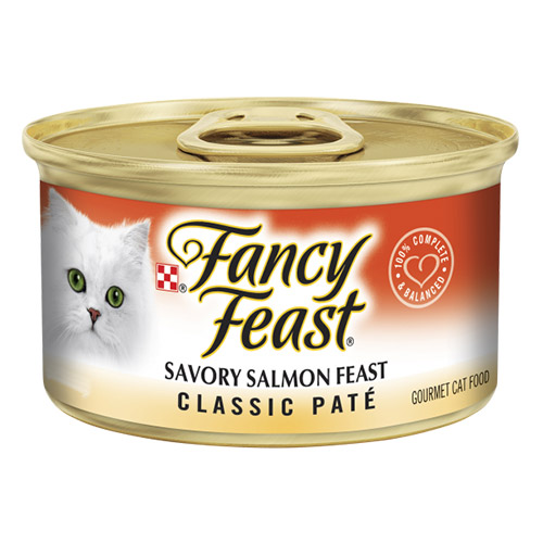 Fancy Feast Cat Adult Classic Savoury Salmon for Food