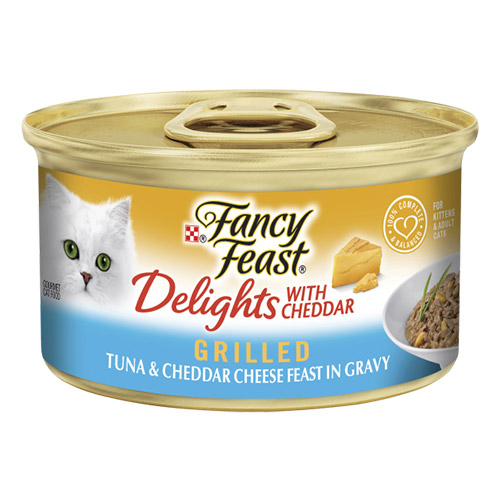 Fancy Feast Cat Adult Delights Cheddar Tuna for Food