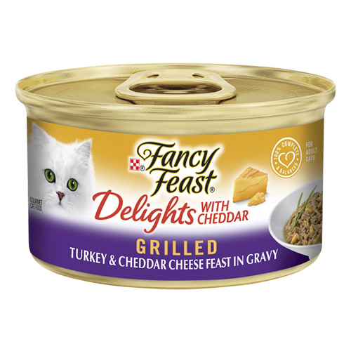 Fancy Feast Cat Adult Delights Cheddar Turkey for Food
