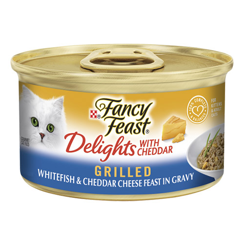 Fancy Feast Cat Adult Delights Cheddar Whitefish for Food