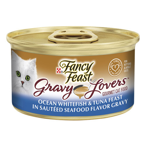 Fancy Feast Cat Adult Gravy Lovers Whitefish & Tuna for Food