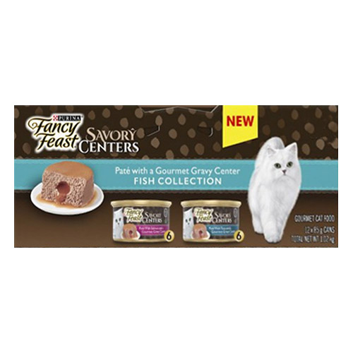 Fancy Feast Cat Adult Savoury Centers Fish Selection for Food