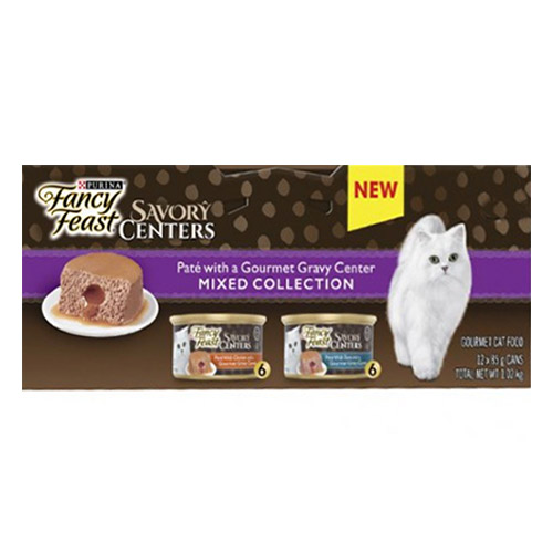 Fancy Feast Cat Adult Savoury Centers Mixed Selection for Food