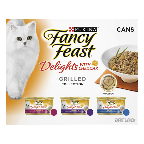 Fancy Feast Cat Adult Variety Pack Cheddar Delight for Food