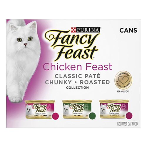 Fancy Feast Cat Adult Variety Pack Chicken Feast for Food
