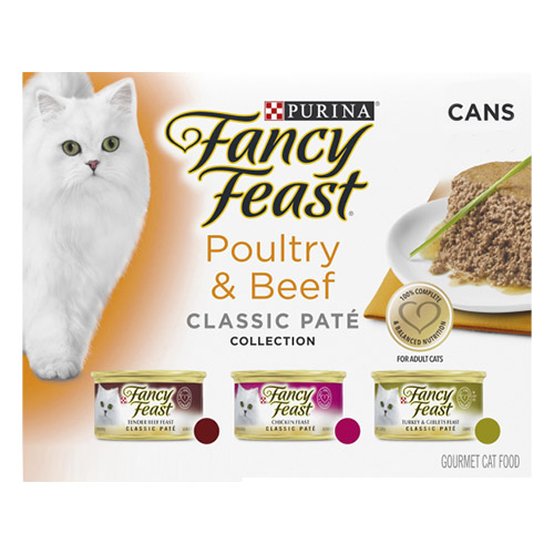 Fancy Feast Cat Adult Variety Pack Poultry and Beef Pate for Food