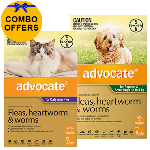Advocate for Cats Over 4 kg + Advocate for Dogs for Dogs