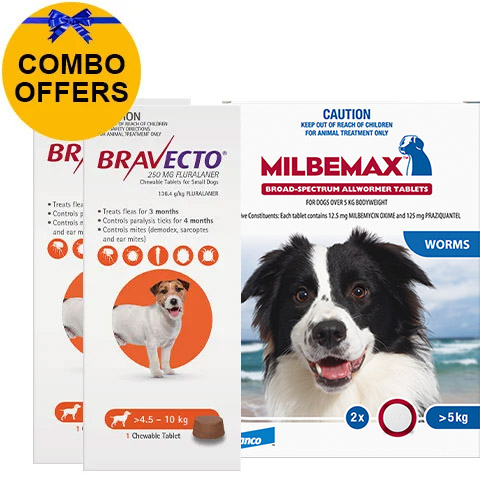 Bravecto Chew + Milbemax Combo Pack for Dogs