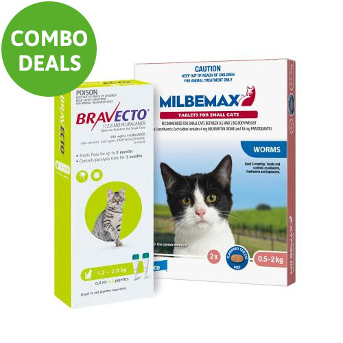 Bravecto Spot On + Milbemax Combo Pack For Cats for Cats
