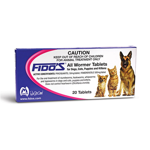 Fidos All wormer Tablets for Dogs & Cats for Dogs