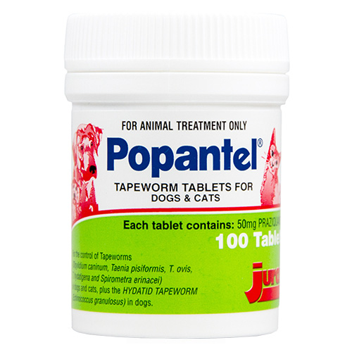 Popantel Tapewormer for Cats